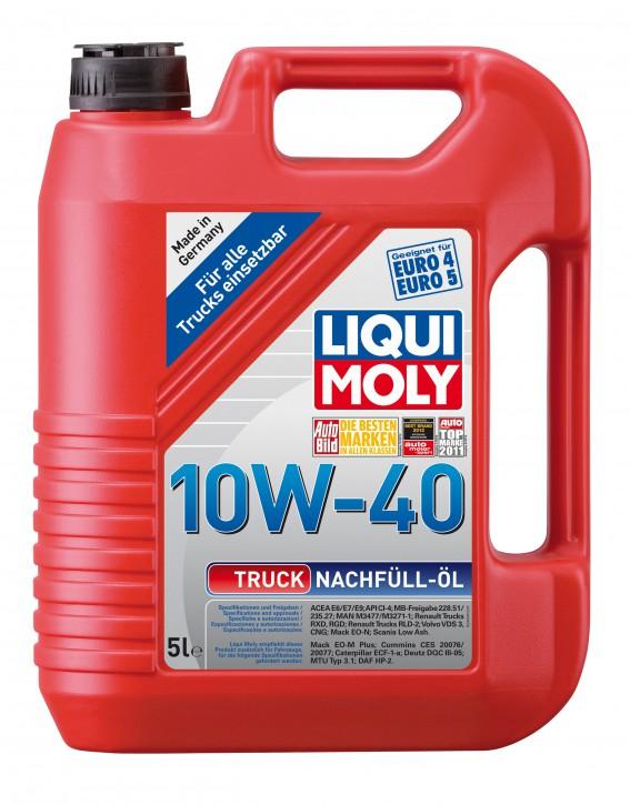 ( 8,12 EUR pro Liter) 10W-40 Truck-Nachfüll-Öl LIQUI MOLY 5 LITER
