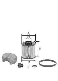 MANN Harnstofffilter (AdBlue) U 620/4 x KIT