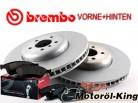 Brembo Bremsscheiben + Beläge BMW 5 Gran Turismo (F07) Vorne 348MM + Hinten 345MM