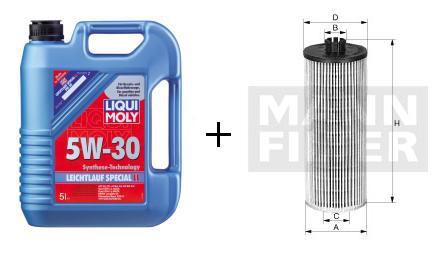 5W-30 Leichtlauf Special LL Liqui Moly  + MANN Ölfilter HU 712/8 x