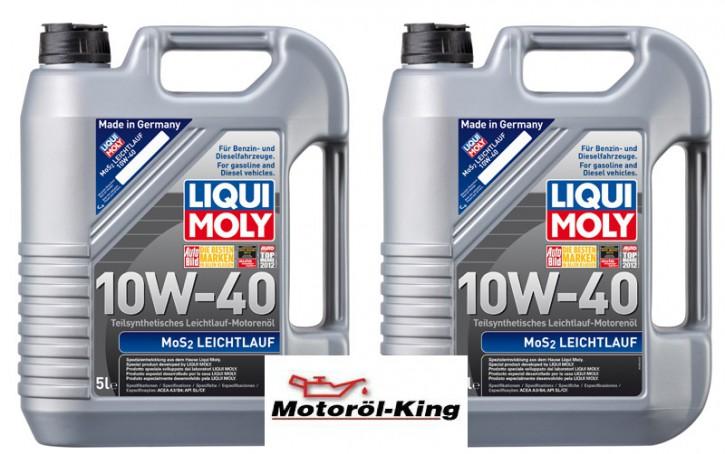 2x 5 Liter >>>>> MoS2 Leichtlauf 10 W-40 Liqui Moly