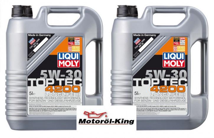 2x 5 Liter >>>>> Top Tec 4200 5 W-30 Liqui Moly