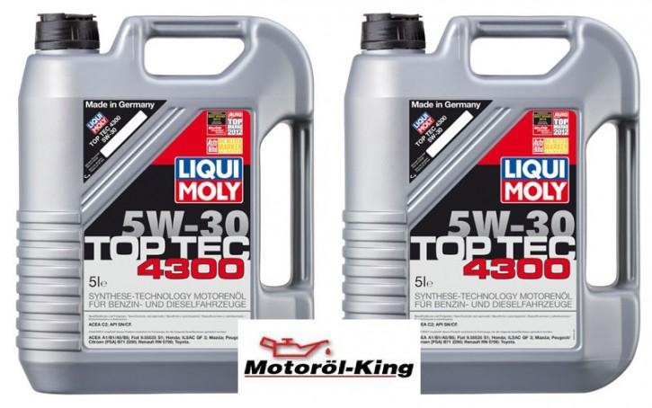 2x 5 Liter >>>>> Top Tec 4300 5 W-30 Liqui Moly