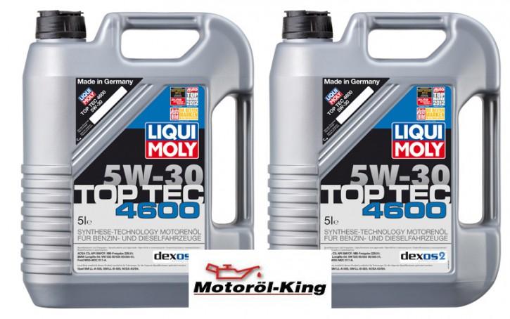 2x 5 Liter >>>>> Top Tec 4600 5 W-30 Liqui Moly