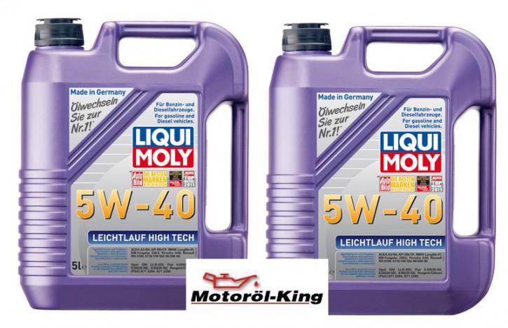 2x 5 Liter >>>>> Leichtlauf High Tech 5 W-40 Liqui Moly