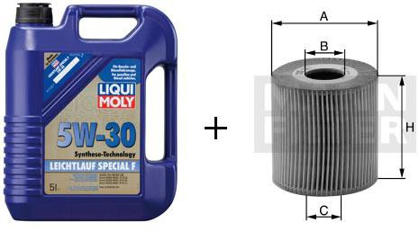 5W-30 Leichtlauf Special F Liqui Moly + MANN Ölfilter HU 711/51 X