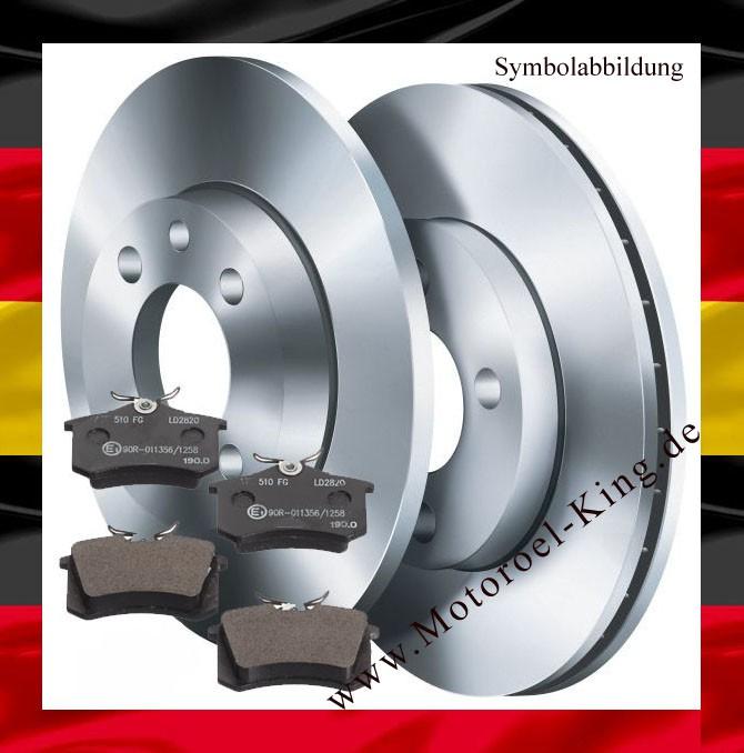 Barum Bremsscheiben + Bremsbeläge BELÄGE VW GOLF IV 4 (1J1) VORNE 256MM
