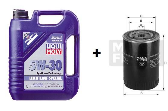 5W-30 Leichtlauf Special Liqui Moly  + MANN Ölfilter W 712/43