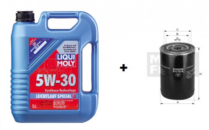 5W-30 Leichtlauf Special LL Liqui Moly  + MANN Ölfilter W 712/22