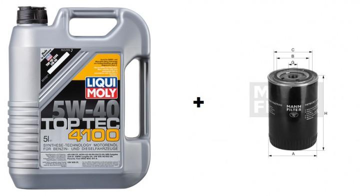 5W-40 Top Tec 4100 Liqui Moly + MANN Ölfilter W 67/1