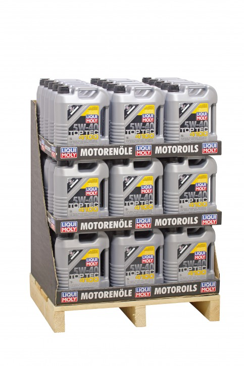 5W-30 Top Tec 4100 Liqui Moly 220 LITER  Display 44 x 5l