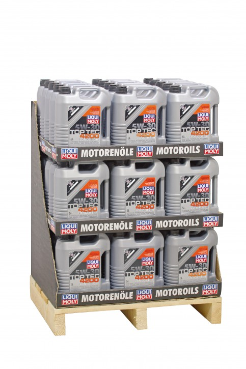 5W-30 Top Tec 4200  Liqui Moly 220 LITER  Display 44 x 5l