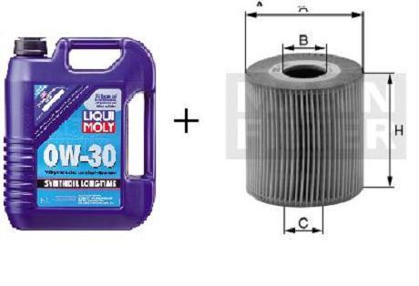 0W-30 Synthoil Longtime Liqui Moly + MANN Ölfilter HU 727/1x