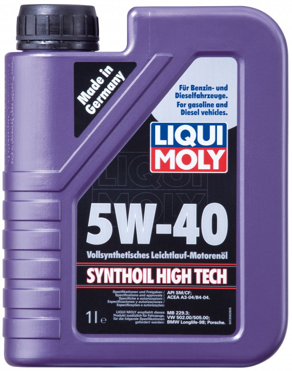 5W-40 SYNTHOIL HIGH TECH LIQUI MOLY