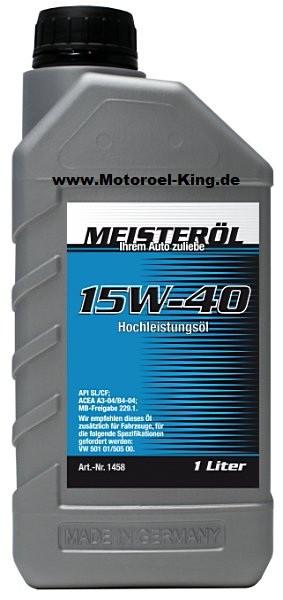 15W-40 MEISTER-ÖL HOCHLEISTUNGS-MOTORENÖL