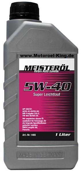 5W-40 MEISTER-ÖL SUPER LEICHTLAUF-MOTORENÖL