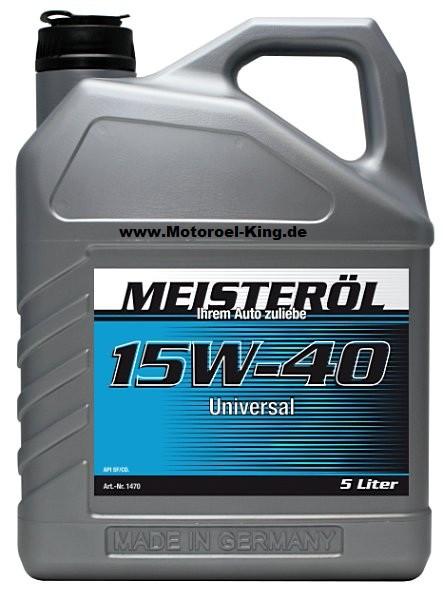 15W-40 MEISTER-ÖL UNIVERSAL-MOTORENÖL