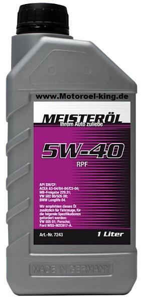 5W-40 MEISTERÖL RPF (Low SAPS)