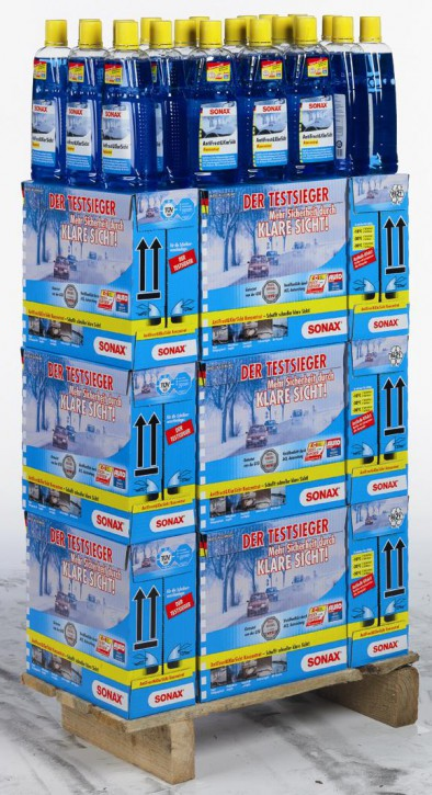 BIG DEAL ANGEBOT! SONAX ANTIFROST& KLARSICHT DISPLAY.96X1L KONZENTRAT MIT CITRUSDUFT