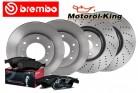 Brembo Bremsscheiben gelocht + Beläge AUDI A4 (8E2, B6)(8EC) VORNE 312MM + HINTEN 255MM