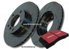 EBC Black Dash-Disc + Blackstuff Bremsbeläge VW GOLF VI (5K1) VORNE 312MM+ HINTEN 272MM