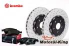 BREMBO Bremsscheiben Gelocht + Beläge AUDI RS4 B7 / RS 4 Quattro 365MM VORNE
