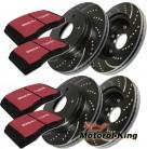 EBC Turbo Groove Disc Black Bremsenset BMW 3er (E90) VORNE 348MM + HINTEN 336MM