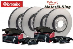 Brembo Bremsscheiben + Beläge VW GOLF VI (5K1) VORNE 288MM + HINTEN 253MM