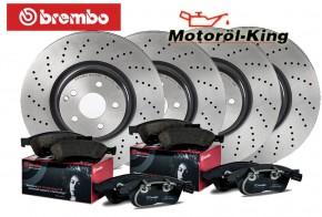 Brembo Bremsscheiben XTRA + Beläge VW GOLF VI (5K1) VORNE 288MM+ HINTEN 272MM