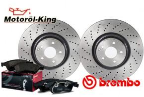 Brembo Bremsscheiben XTRA + Beläge AUDI TT (8J3)(8J9) Hinten 286MM