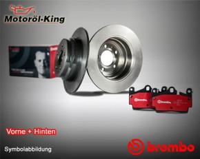 Brembo Bremsscheiben + Beläge FORD C-MAX VORNE 278MM + HINTEN 265MM