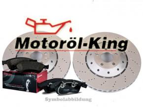 OE-Line Bremsscheiben Gelocht + Beläge AUDI A4 RS4 B7 / RS 4 Quattro 324MM Hinten