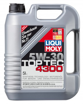 BIG DEAL ANGEBOT! 6 Liter LIQUI MOLY Top Tec 4300 SAE 5W-30