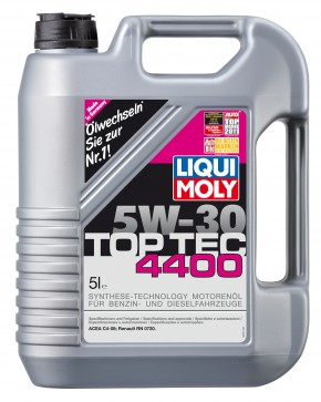 BIG DEAL ANGEBOT! 6 Liter LIQUI MOLY TOP TEC 4400 SAE 5W-30